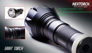 Nextorch Saint HID 450lm 500m Rechargeable Flashlight