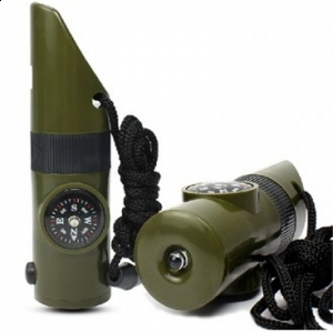 Whistle & Compass Survival Flashlight