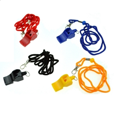 Sports Plastic Lanyard Whistle