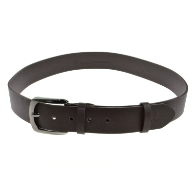 Jeep Compass 110cm Black/Brown Leather Belt with Alloy Buckle