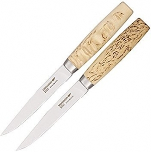 Morakniv Steak Knife, stainless steel, curly birch